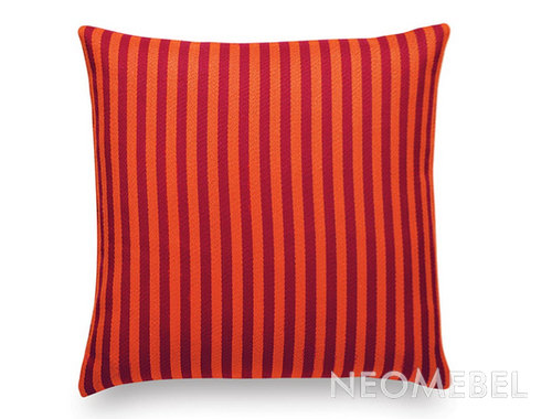 Подушка , VITRA, Toostripe orange dark/crimson dark