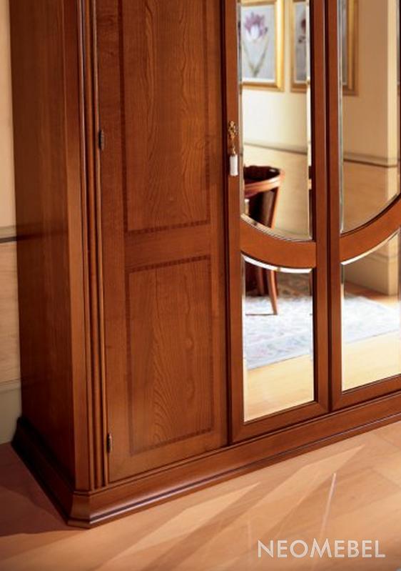 Гардеробный шкаф пятистворчатый зеркальный toscana, camelgro.