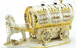 Статуэтка CARRIAGES, VILLARI - GOLD, 10.1778.7