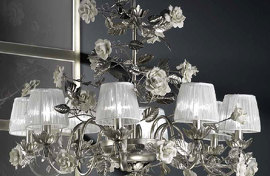 Люстра PLATINUM Roses Chandelier , VILLARI - HOME&LIGHT, 4100409.101