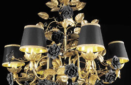Люстра Black&gold with crystals Roses Chandelier , VILLARI - HOME&LIGHT, 4024316.802