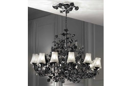 Люстра Black volcano Roses Chandelier , VILLARI - HOME&LIGHT, 4300306.808