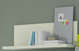 Полка , ROS - INFANTIL, 4403 shelf, finished Melaminas Melamina Iris Verde RV01