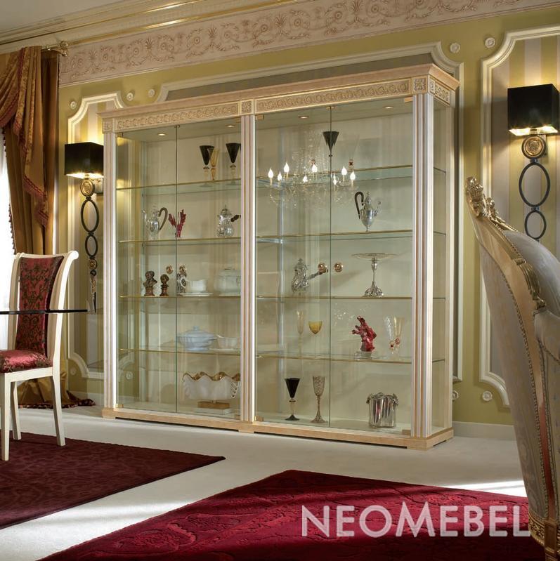 Шкаф-витрина для гостиной своими руками 74