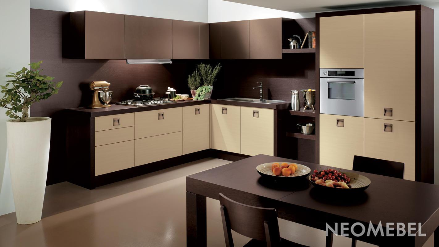 кухня в молочно-кофейных тонах фото