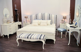 Кровать , BREVIO  SALOTTI - PAOLA, G211 bed wood U03, fabric B07