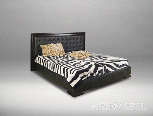 Кровать из кожа крокодила