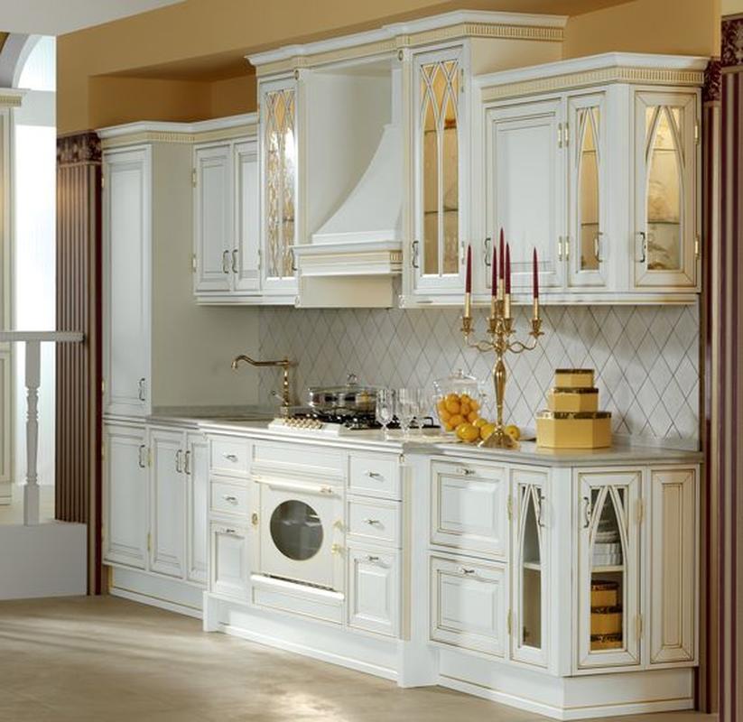 Кухни белые классические фото